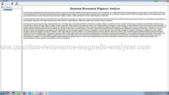 how to use the Hungarian version Quantum Resonance Magnetic Analyzer Quantum Rezonancia Mágneses Analyzer (21)