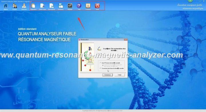 how to use the french version Quantum Resonance Magnetic Analyzer Quantum analyseur faible résonance magnétique (18)