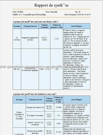 how to use the french version Quantum Resonance Magnetic Analyzer Quantum analyseur faible résonance magnétique (22)