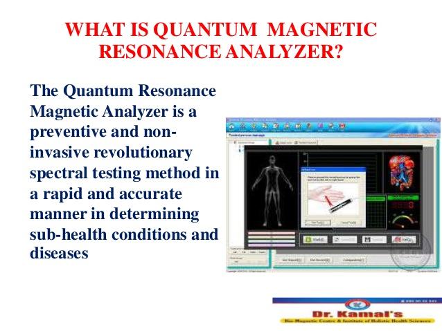 quantum resonance magnetic analyser machine